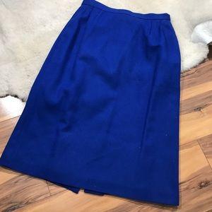 Dresses & Skirts - 💎 Vintage Royal Blue Lined Wool Skirt 10P